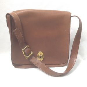 Fossil brown leather gold hardware purse